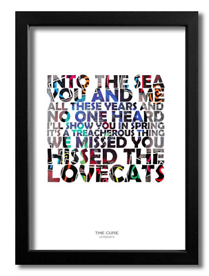 The Cure ¦ Lovecats ¦ A4 Art Print Poster With Lyrics • 8.95£