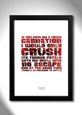 The Jam ¦ Carnation ¦ A4 Art Print Poster With Lyrics • 5.99£