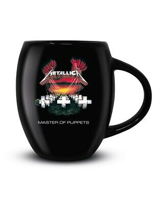 Metallica Tea And Coffee Mug Master Of Puppets Oval Black 13x12cm • 11.75£