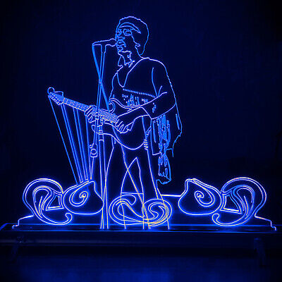Jimi Hendrix Woodstock LED Laser Lamp • 35£