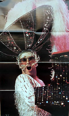 Elton John 36  X 22.5  Poster By Rock Superstars From 1975 New Old Stock / Mint • 4.63£