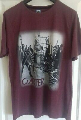 CARTER USM XXL Tee Soft Burgundy Brighton Riots 60's Image To Front. Logo On... • 12.50£