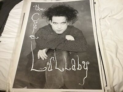 THE CURE 1980S LULLABY UK POSTER 25 X 35 NMINT RARE CLEAN VTG HTF! • 39.63£