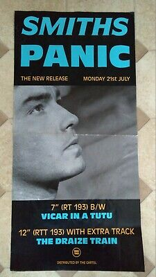 The Smiths Panic Original Rough Trade Poster With Fold And Some Creases • 50£
