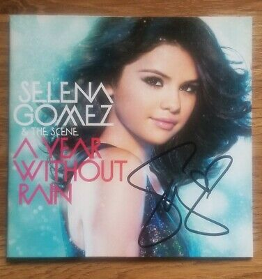 Selena Gomez A Year Without Rain Signed CD • 22.99£