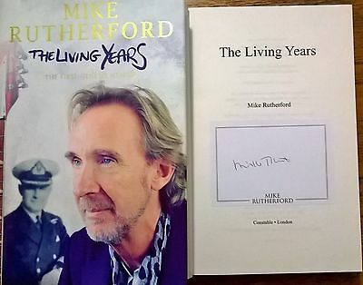 Mike Rutherford Genesis SIGNED The Living Years Autographed 1st Ed Book • 49£