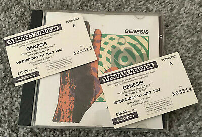 Genesis Tickets 1987 Invisible Touch Wembley Stadium & CD ~ Genuine • 15£