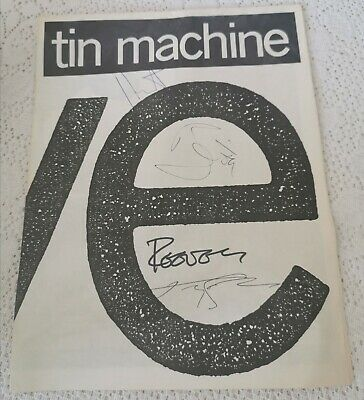 Signed David Bowie Reeves Gabrels Tin Machine Debut Tour Programme '89 Autograph • 165£