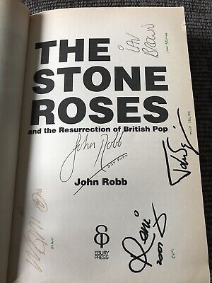 'The Stone Roses'  SIGNED Paperback Book Ian Brown Mani Reni John Robb Squire • 35£