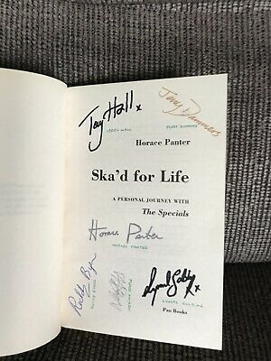 'Ska'd For Life'  The Specials SIGNED Paperback Book Terry Hall Dampers Panter • 35£
