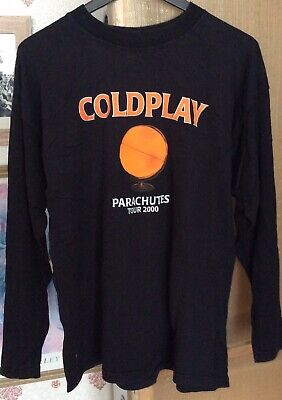 COLDPLAY Parachutes Original Tour T-Shirt 2000 Size XL Long Sleeved • 6.50£