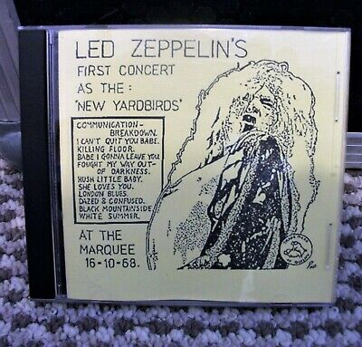 LED ZEPPELIN THE FIRST CONCERT (as The New Yardbirds) C.D • 8£