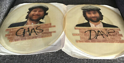 """'I Wonder In Whose Arms....'  TWO Chas & Dave 12"""" UNCUT PIC DISC TEST PRESSINGS • 50£"""