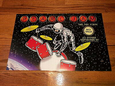 Pearl Jam Backspacer Rare Original Promo DOUBLE SIDED LITHOGRAPH POSTER   • 7.93£