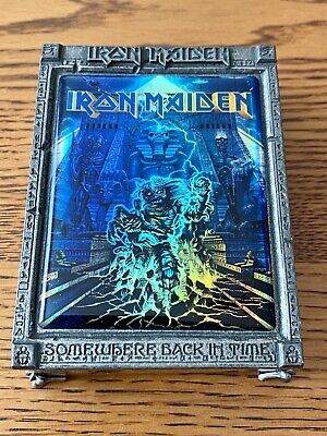 Iron Maiden: Official 'Somewhere Back In Time' UK FC Pewter Metal Card Holder • 100£