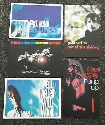 Paul Weller - 5 Record Company Promo Postcards • 10£