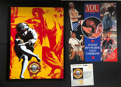 Guns N' Roses 1990 Use Your  Illusion Tour Concert Program Book With Ticket Stub • 35£