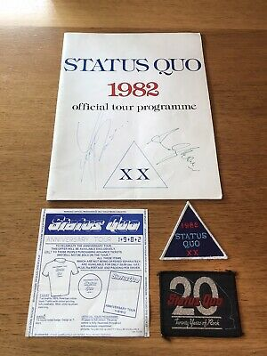 Status Quo Signed 1982 Tour Program And Tour Patches  • 35£