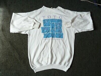 TOTO. Large White Sweat Shirt. Past To Present Tour 1990 • 8£