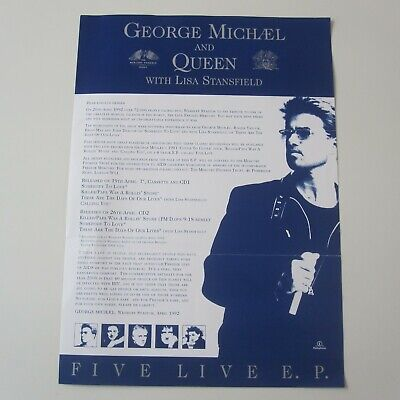 Queen George Michael - Five Live E.P Single 1993 Parlophone Promo Letter  • 15.95£