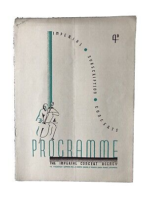 Concert Programme: Elly Ney - Pianoforte ?1934 SIGNED • 2.99£
