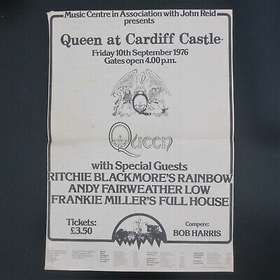 QUEEN - Original Cardiff Castle 1976 Full Page Music Magazine Advert Poster • 69.95£