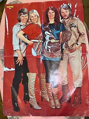 Large ABBA Poster From The 70's • 15.99£
