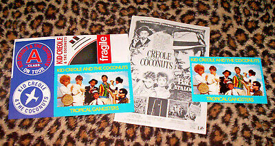 KID CREOLE AND THE COCONUTS. Orig 1982 Promo Items. • 40£