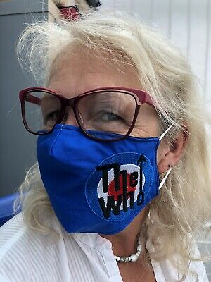 The Who Target Logo Face Masks 100% Cotton Double Layer With Opening For Filter. • 7.50£