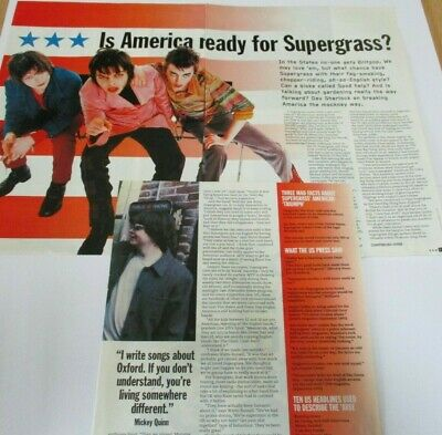 Supergrass 4 Page Article Taken From Raw Mag. Mid 1990's • 2.99£