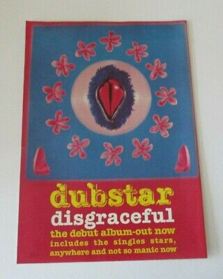 Dubstar Disgraceful Album Advert/Poster A4 Size • 2.99£