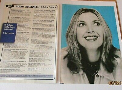 Sarah Cracknell Of Saint Etienne Q&A Clippings / Poster A4 Size • 1.99£