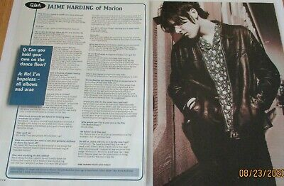 Jaime Harding Of Marion Q&A Clippings / Poster A4 Size • 1.99£