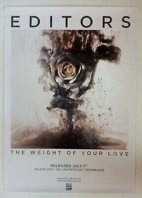 Editors - The Weight Of Your Love - Original Promo Poster • 9.95£