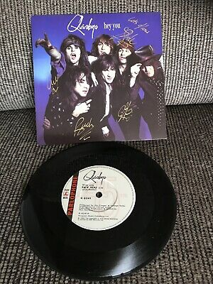 """'Hey You' Quireboys SIGNED 7"""" • 15£"""