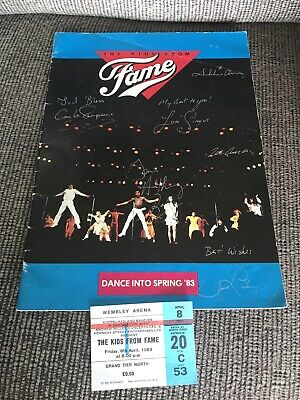 'Dance Into Spring '83' The Kids From Fame SIGNED Programme + Wembley Ticket • 35£