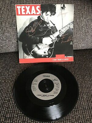 """'I Don't Want A Lover' Texas SIGNED 7"""" Sharleen Spiteri • 15£"""