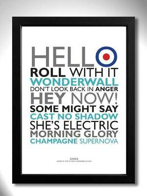Oasis What's The Story Morning Glory Album Art Print Poster With Song Titles • 5.99£