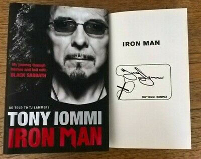Tony Iommi Black Sabbath SIGNED Iron Man Hard Back Official Autographed Book   • 155£