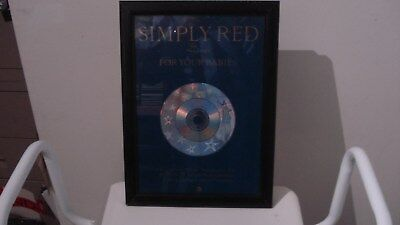 Simply Red Framed Promo Board • 9£