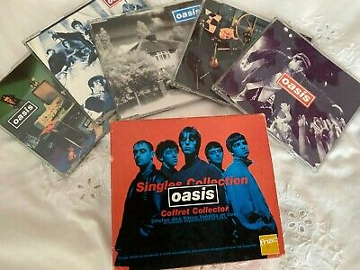 OASIS Singles Collection - 5 X CD French Boxset - Helter Skelter - Rare! • 85£