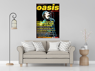 OASIS KNEBWORTH REPRODUCTION POSTER Kitchen Pub Bar Man Cave Printed NEW • 9.95£