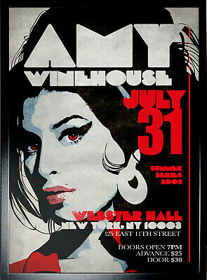 AMY WINEHOUSE REPRODUCTION POSTER Kitchen Pub Bar Man Cave Cave Ideal Gift • 9.95£