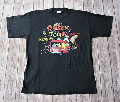 Queen Vintage The Queen Tour Rainbow Marquee Magic Concert T-Shirt XL • 75£