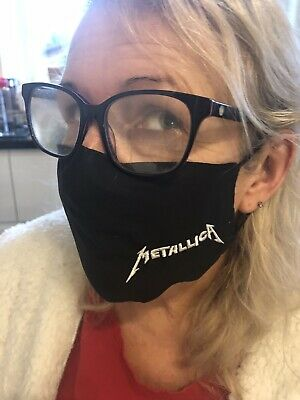 Metallica Logo Face Masks 100% Cotton Double Layer With Opening For Filter. • 6£