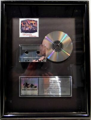Nirvana - MTV Unplugged In New York - Official In-House Award, Presented To DGC  • 1,500.43£