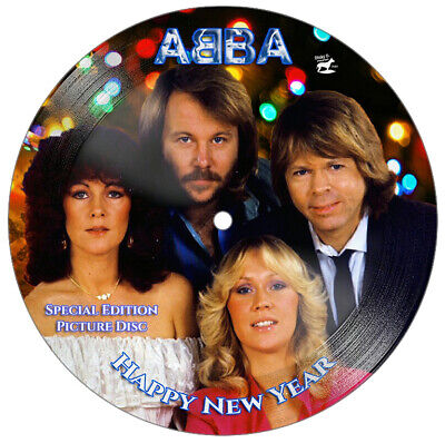 ABBA - STUNNING Collector's Edition 7  Christmas Picture Disc 'Happy New Year' • 59.99£