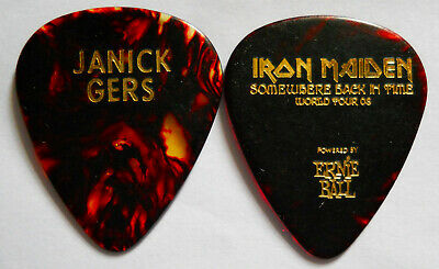 Official JANICK GERS Somewhere Back In Time Tour GUITAR PICK  • 2.20£