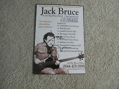 Jack Bruce Cream Bassist & Songwriter Signed Tour Flyer Salisbury 2012 • 40.99£