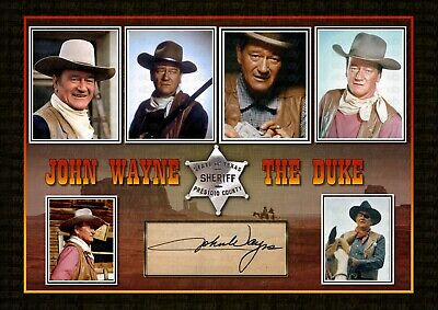 John Wayne  - SIGNED ORIGINAL A4 PHOTO PRINT MEMORABILIA • 7.80£